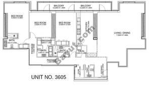 3 Br - Unit 3605 - 36th Floor