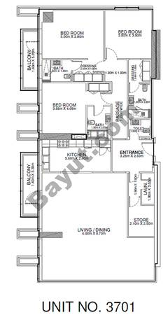 3 Br - Unit 3701 - 37th Floor