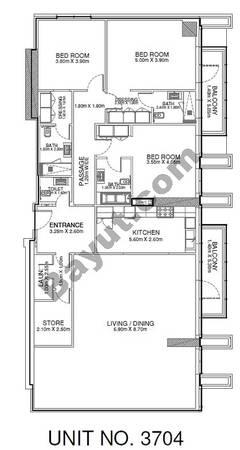 3 Br - Unit 3704 - 37th Floor