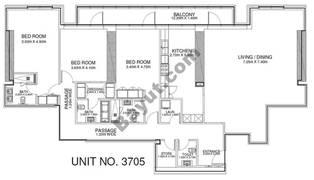 3 Br - Unit 3705 - 37th Floor