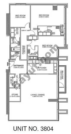 3 Br - Unit 3804 - 38th Floor