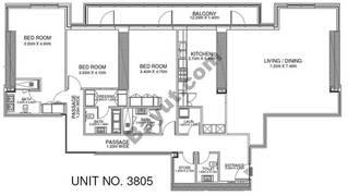 3 Br - Unit 3805 - 38th Floor
