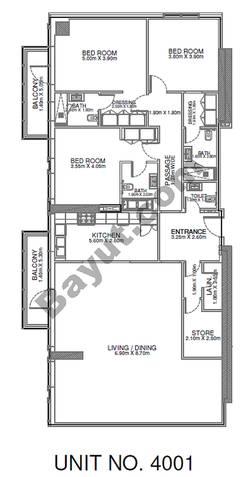 3 Br - Unit 4001 - 40th Floor