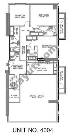 3 Br - Unit 4004 - 40th Floor