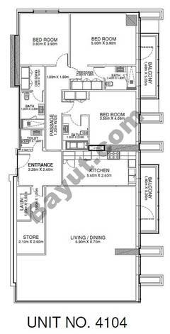 3 Br - Unit 4104 - 41st Floor