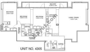 3 Br - Unit 4305 - 43rd Floor