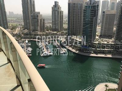 2 Bedroom Apartment for Rent in Dubai Marina, Dubai - Furnished 2 Bed plus maids apartment balcony with the view in the Marina