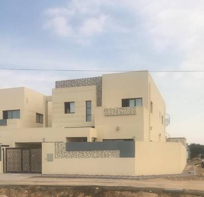 For sale luxury villa two floors new in Ajman finishing Super Deluxe free ownership 100%