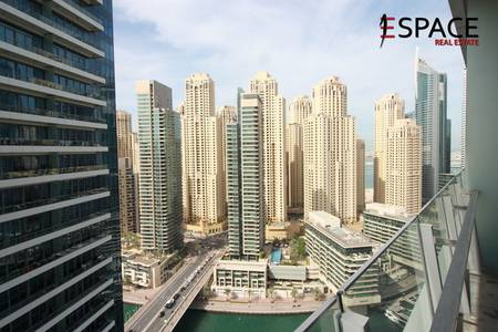 Studio for Rent in Dubai Marina, Dubai - Unfurnished Studio -  High Floor - Close to Amenities
