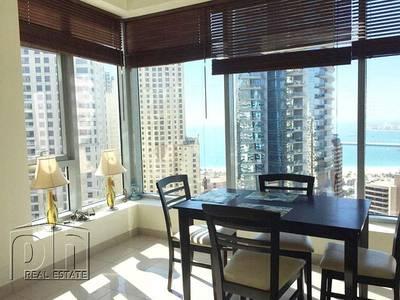 1 Bedroom Apartment for Rent in Dubai Marina, Dubai - Large 1 Bed + Study | Beautiful Sea Views | Unfurnished