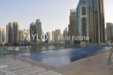 1 Bedroom Apartment for Rent in Dubai Marina, Dubai - Unfurnished 1 Bed with Stunning Sea View