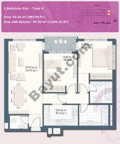 2 Bedroom Flat Type A