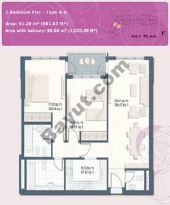 2 Bedroom Flat Type A-6