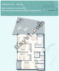 3 Bedroom Flat Type A-1