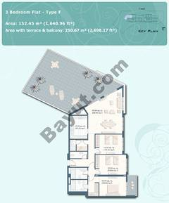 3 Bedroom Flat Type F