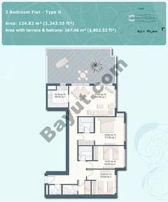 3 Bedroom Flat Type G