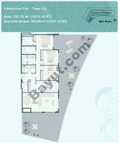 3 Bedroom Flat Type I-1
