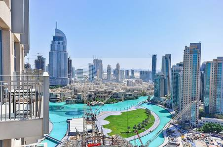 2 Bedroom Flat for Rent in Downtown Dubai, Dubai - Vacant 2 BR+Study