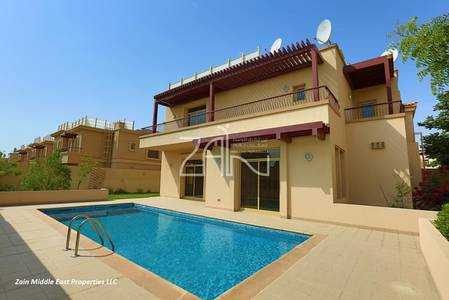 6 Bedroom Villa for Rent in Al Raha Golf Gardens, Abu Dhabi - Golf View 6+M Villa with Pool and Garden