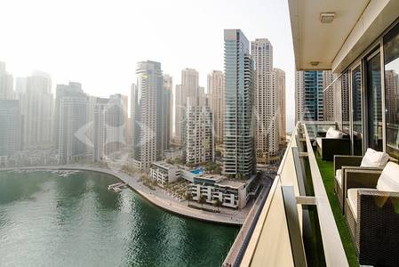 3 Bedroom Flat for Rent in Dubai Marina, Dubai - Stunning Furnished 3 beds in Silverene Towers | Full marina view
