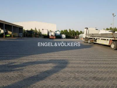 Plot for Sale in Dubai Industrial Park, Dubai - Exclusive Open Yard with office Building