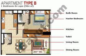 1 Bedroom Type B