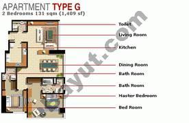 2 Bedroom Type G