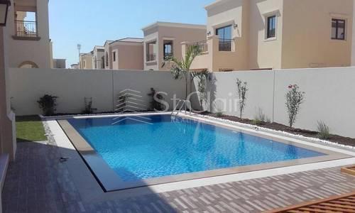 4 Bedroom Villa for Rent in Al Barari, Dubai - Contemporary Luxurious 4BR+Maid Private Pool