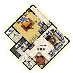 1 Bedroom Type C 26th Floor