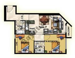 2 Bedroom Type F 1st to 12th Floor