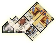 2 Bedroom Type B8 14th to 18th Floor