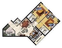 2 Bedroom Type B7 27th to 31st Floor