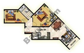 2 Bedroom Type B4 32nd Floor