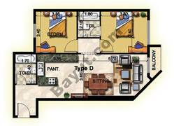 2 Bedroom Type D 33rd to 37th