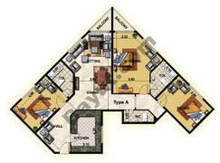 3 Bedroom Type A 32nd Floor