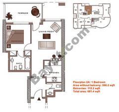 Floors (23-30) Upper Level Type 2A 1 Bedroom