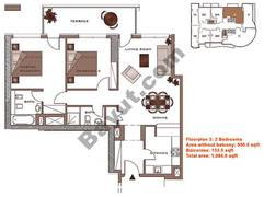 Floors (2-22) 2 Bedroom Lower Level