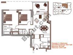 Floors (23-30) 2 Bedroom Upper Level