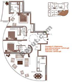 Floors (23-30) 3 Bedroom Upper Level