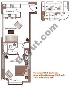 Floors (2-22) Lower Level Type 1B