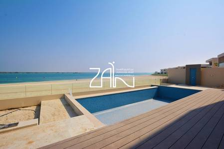 5 Bedroom Villa for Sale in Saadiyat Island, Abu Dhabi - Beachfront 5 BR Villa Type 5 with Pool