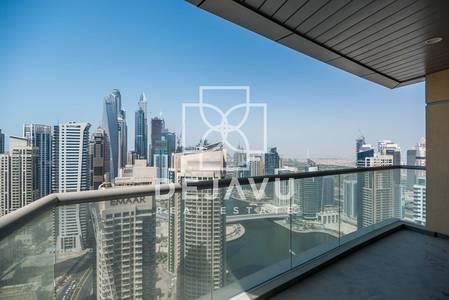 3 Bedroom Flat for Rent in Dubai Marina, Dubai - 3 BEDROOM+LAUNDRY I FULL MARINA I A/C FREE