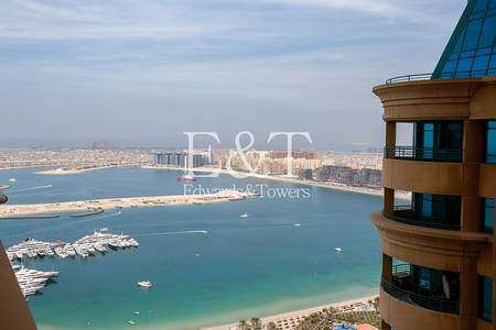 1 Bedroom Flat for Rent in Dubai Marina, Dubai - Partial Sea Views/Unfurnished/High Floor