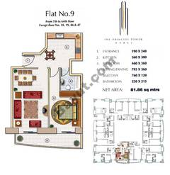 Floors (7-64) Flat 9 1Bedroom Except Floor (18,19,46,47)