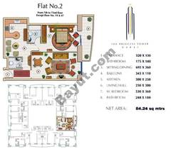 Floors (7-72) Flat 2 1Bedroom Except Floors (19,47)