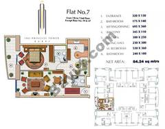 Floors (7-72) Flat 7 1Bedroom Except Floor (19,47)