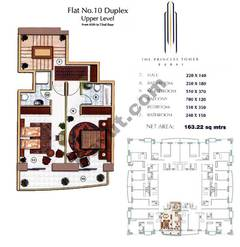 Floors (65-72) Flat 10 Duplex Upper Level 2Bedroom