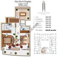 Floors (65-72) Flat 9 Duplex Upper Level 2Bedroom