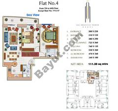 Floors (7-64) Flat 4 2Bedroom Except Floor (19,47)