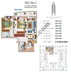 Floors (7-64) Flat 5 2Bedroom Except Floor (19,47)